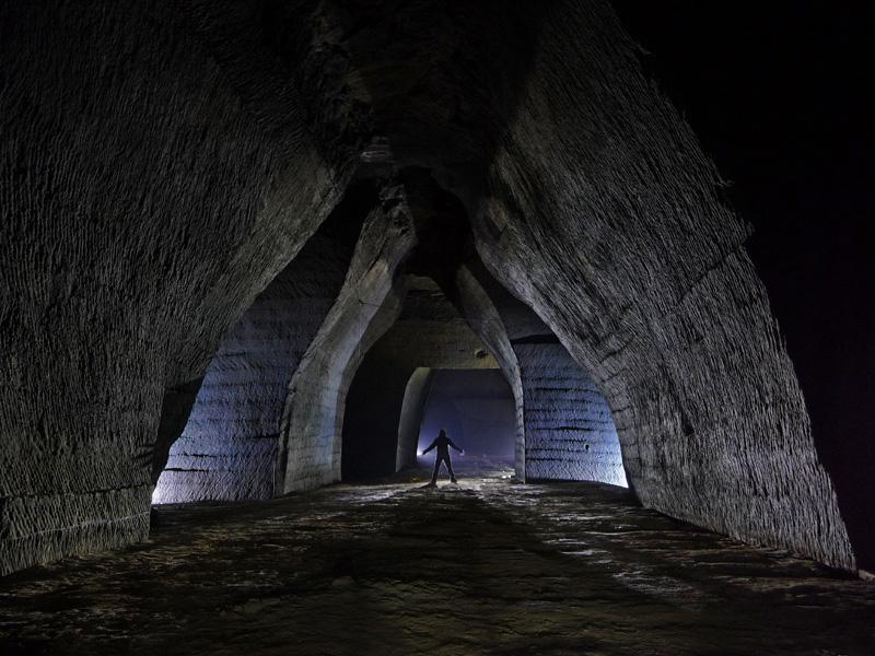 Carrière souterraine de molasse