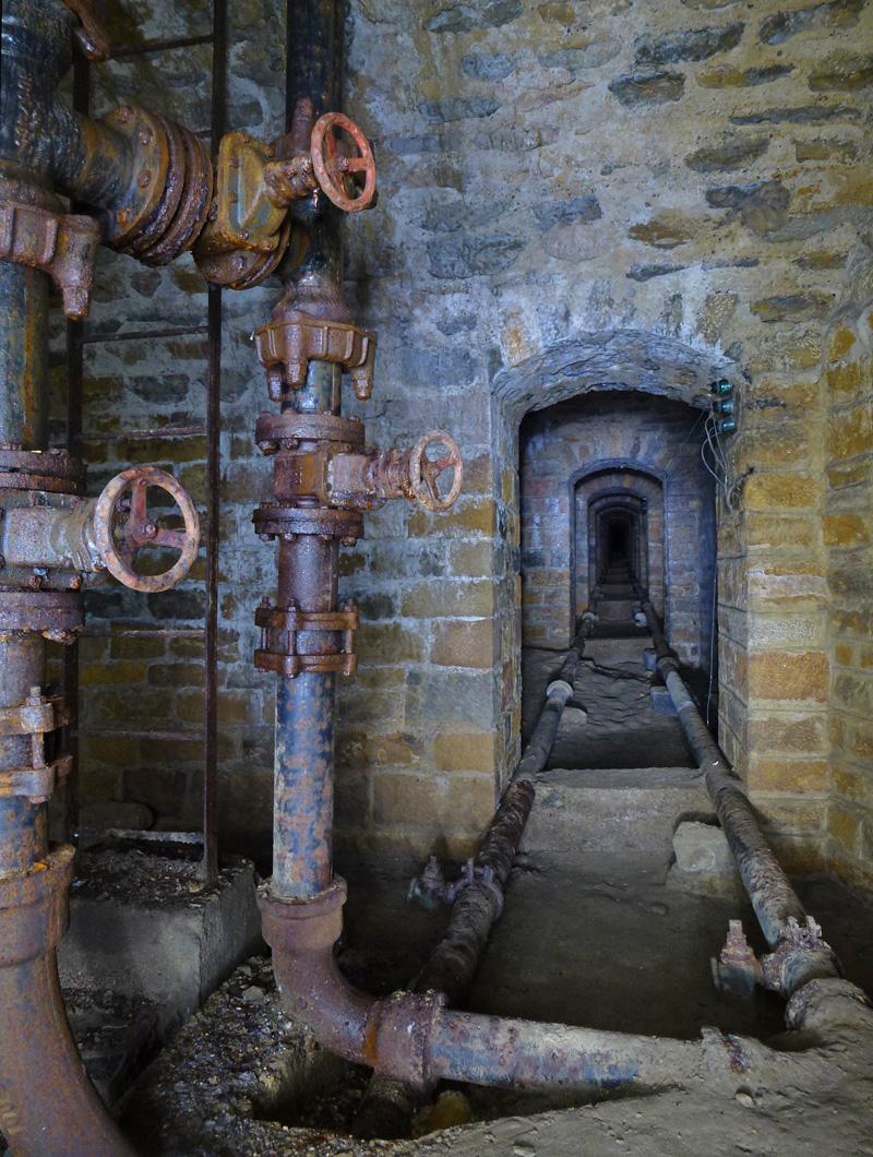Galerie de liaison entre deux forts