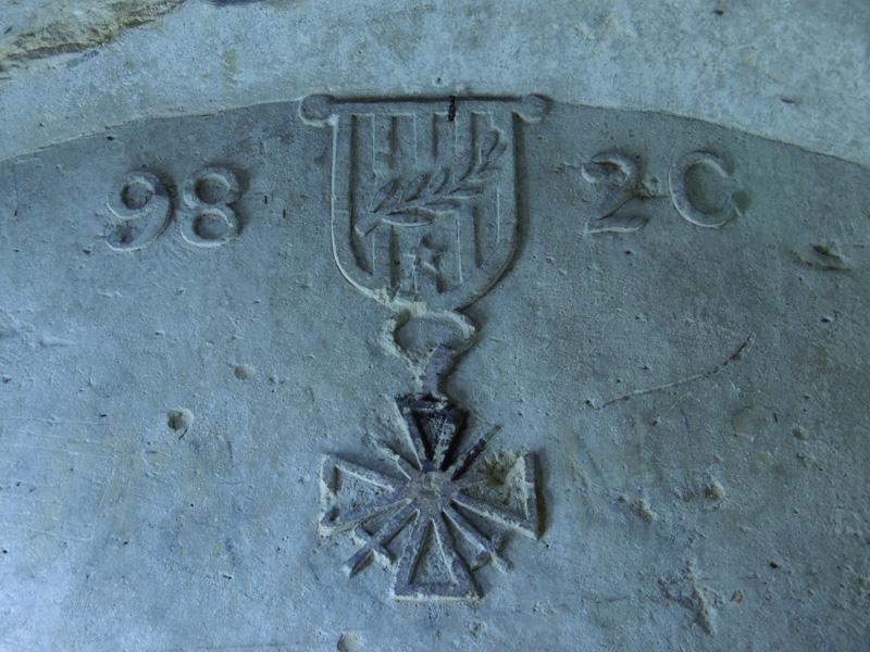 Bas-relief sculpté par un soldat lors de la 1ère Guerre Mondiale